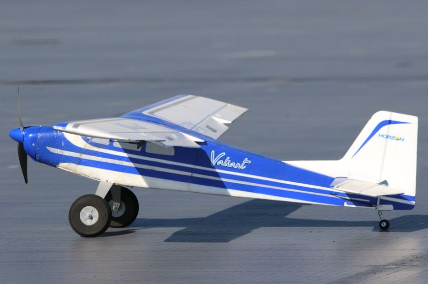 A basic version of an RC airplane.