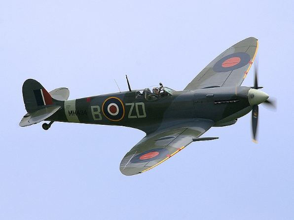 The Supermarine spitfire being used by Royal Airforce of Britain.