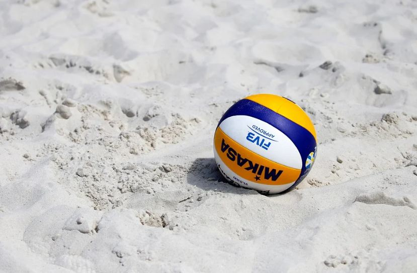 a Mikasa volleyball on the sands